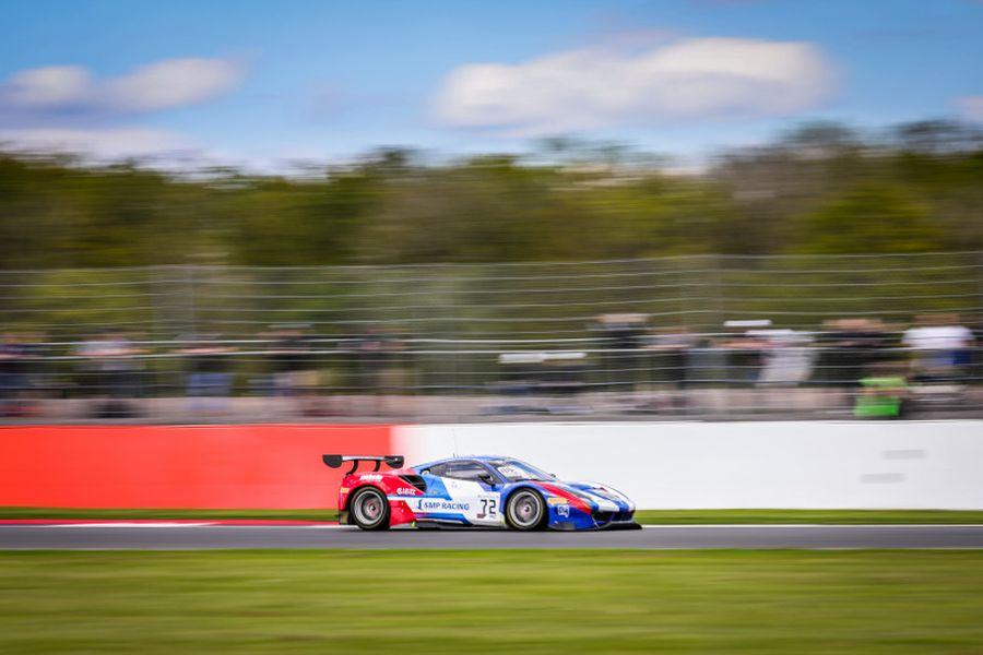 Davide Rigon, Miguel Molina and Mikhail Aleshin were sharing the #72 Ferrari
