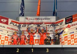 Super GT Fuji 500 km race podium
