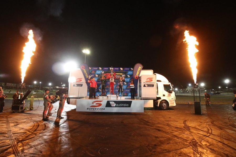 Supercars Perth Race 2 podium