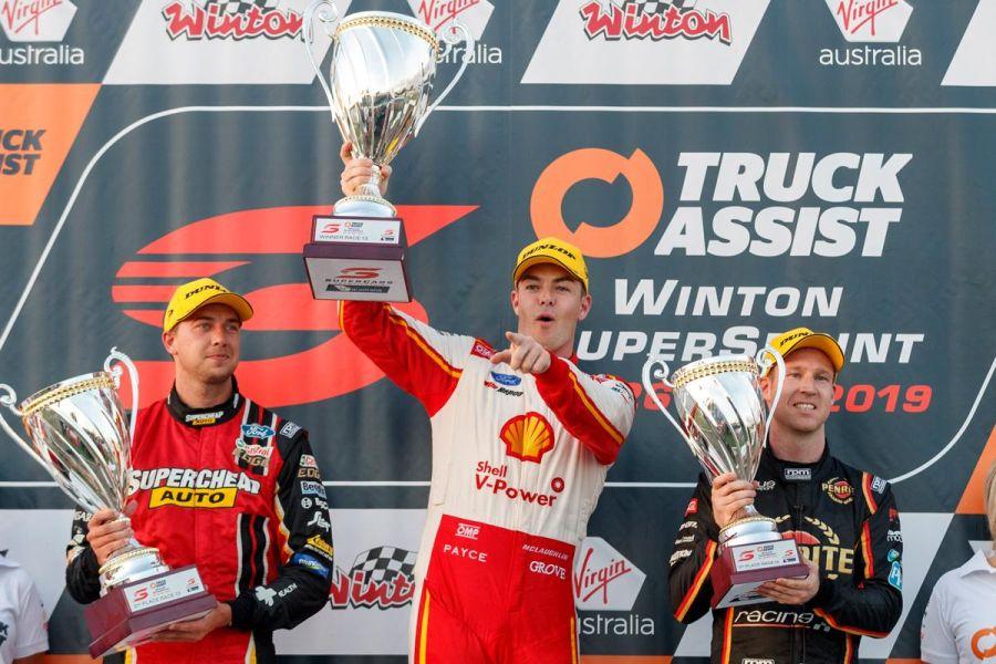 Supercars Winton podium