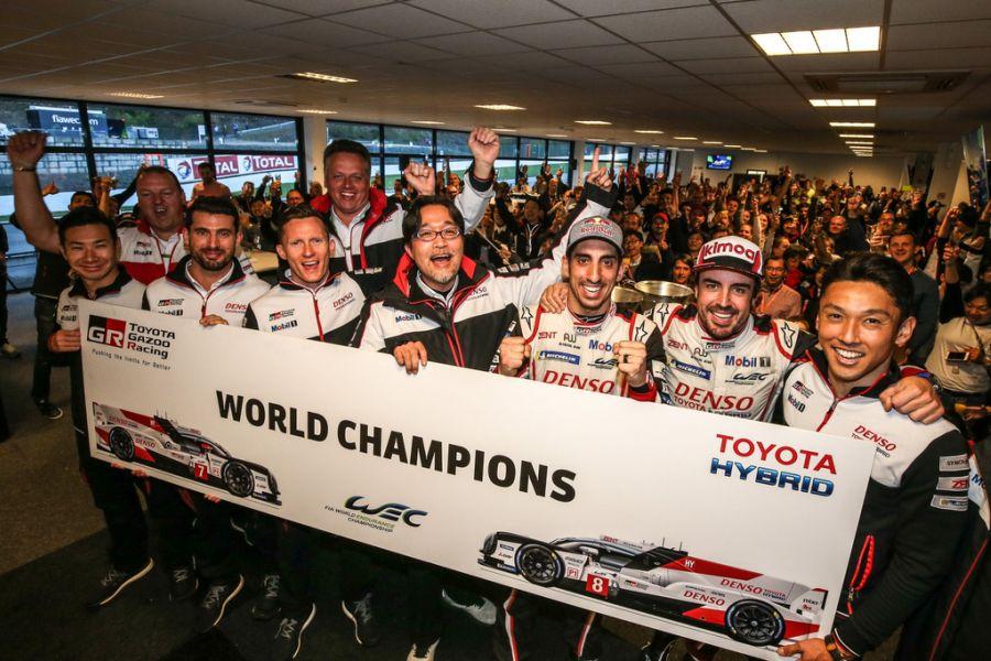 FIA WEC Toyota Gazoo Racing world champions