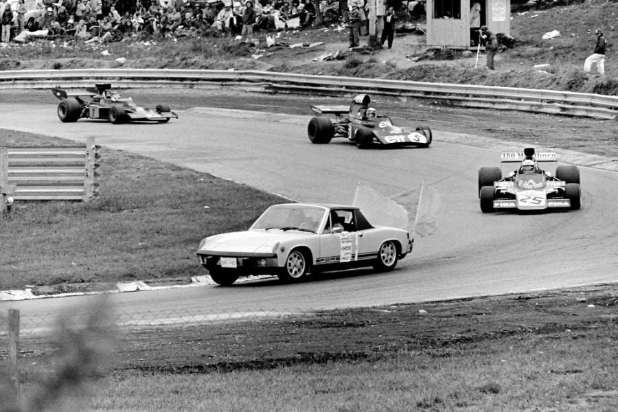 Porsche 914 as the Safety car at the 1973 Canadian Grand Prix