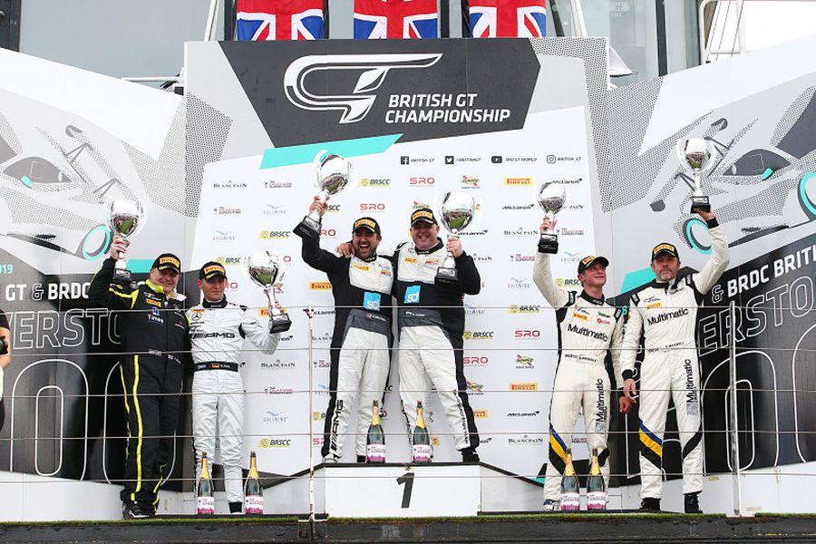 GT4 podium at Silverstone