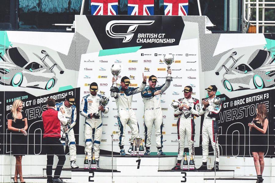 British GT Silverstone 500 podium