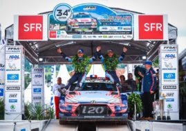 Daniel Elena and Seb Loeb are celebrating victory at Rallye Vosges
