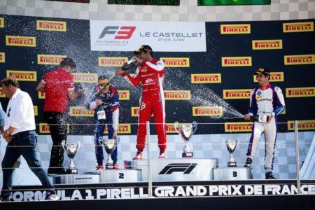 F3 race 1 podium