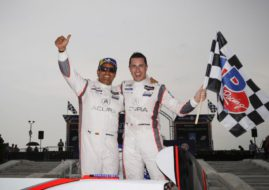 IMSA Detroit winners Dane Cameron and Juan Pablo Montoya