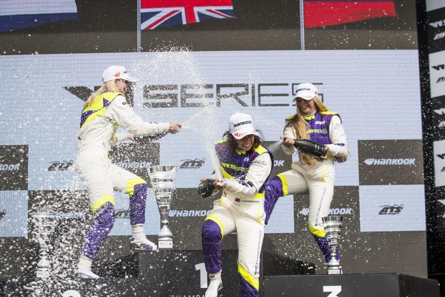 W Series Misano podium