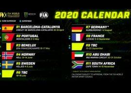 2020 World RX calendar