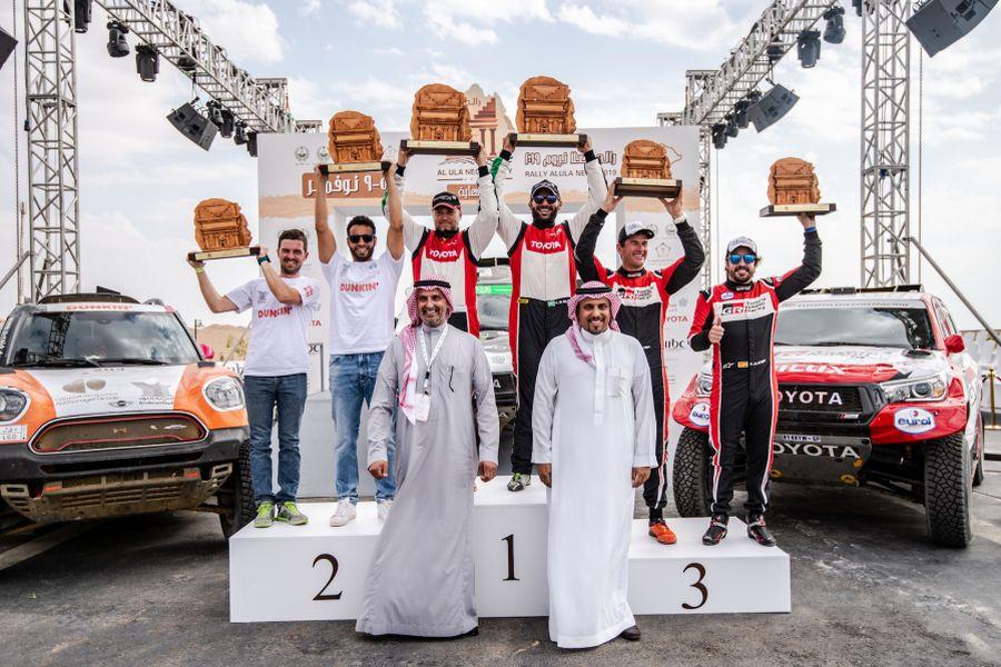 2019 Al Ula-Neom Rally podium