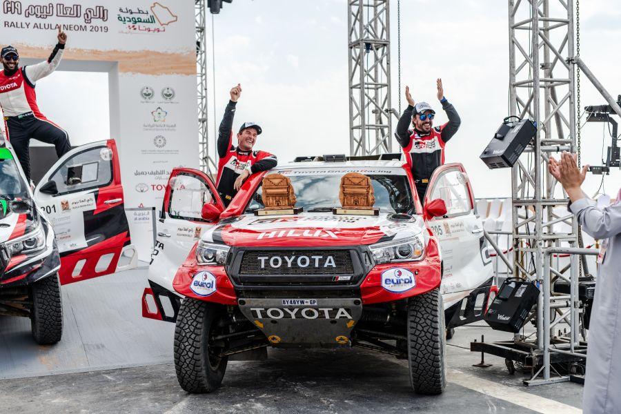 Fernando Alonso and Marc Coma at Al Ula Neom Rally