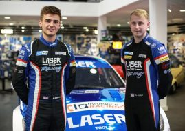 Aiden Moffat and Ashley Sutton,Laser Tools Racing