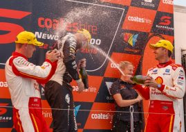 Supercars Newcastle R1 podium