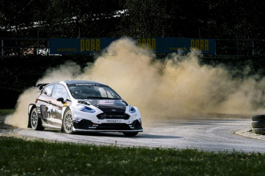 Ford Fiesta-based electric rallycross car