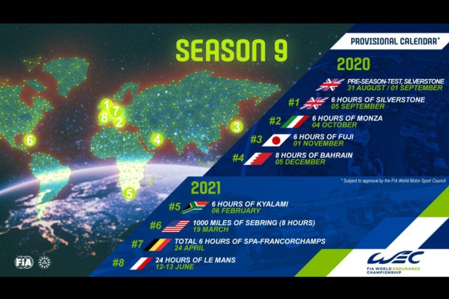 FIA WEC calendar 2020-2021