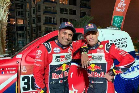 Nasser Al-Attiyah and Matthieu Baumel