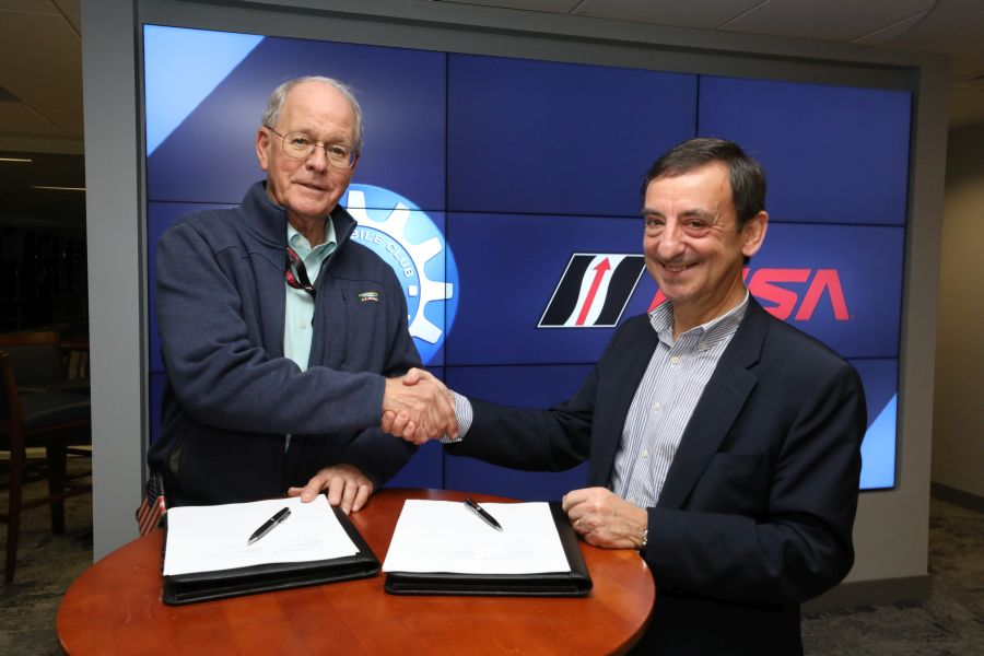Jim France (left), Chairman of IMSA and Pierre Fillon, President of the ACO