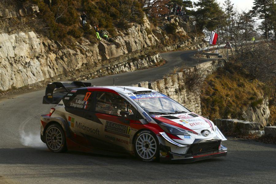 Sebastien Ogier and Julien Ingrassia in the #17 Toyota Yaris WRC