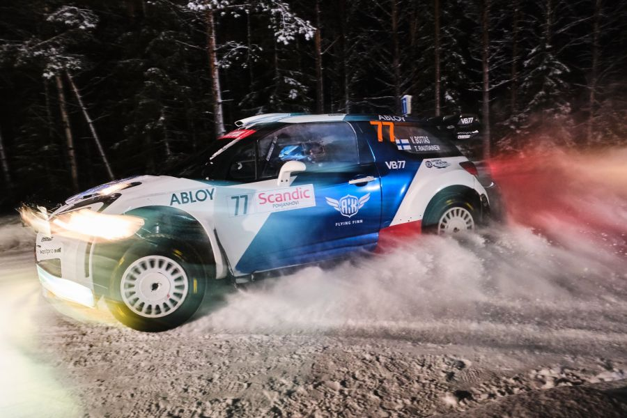 Valtteri Bottas Arctic Rally Citroen