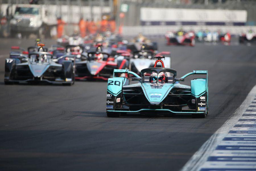 Mexico City ePrix, Mitch Evans in the #20 Jaguar