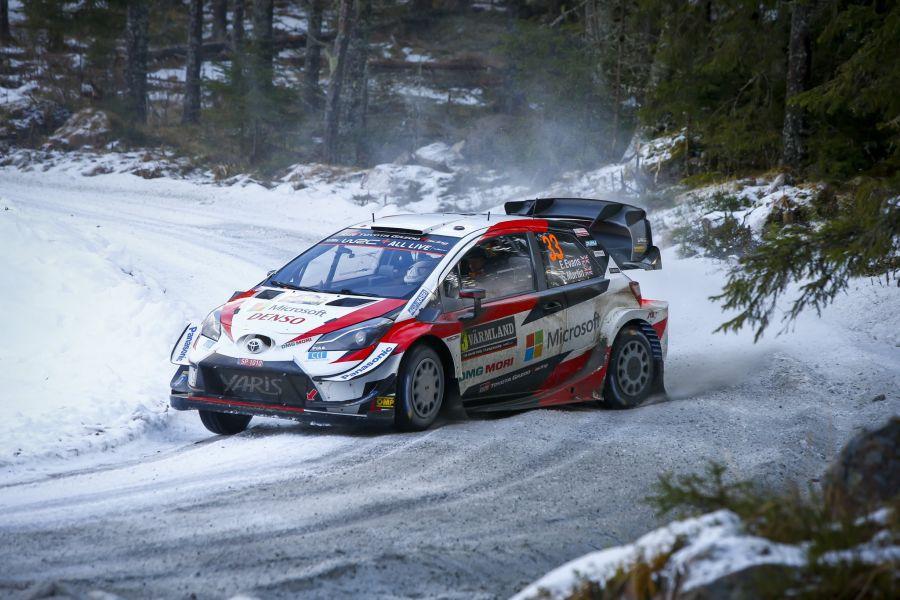 Rally Sweden, Elfyn Evans/Scott Martin, Toyota