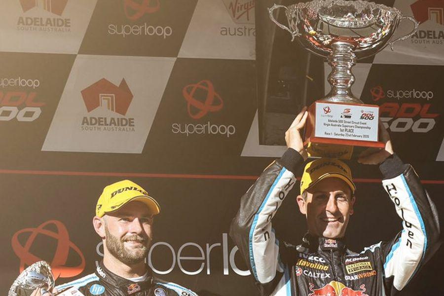 2020 supercars adelaide podium red bull holden