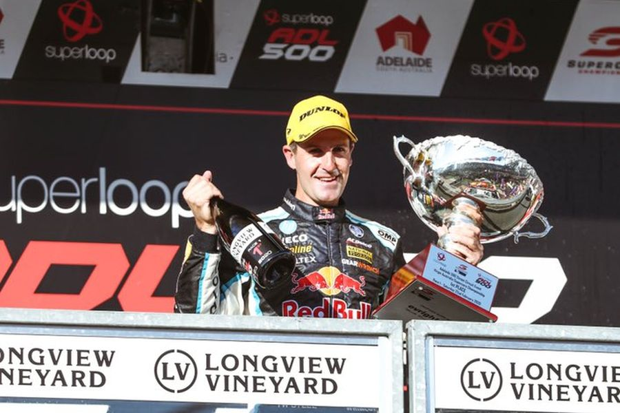 2020 supercars adelaide podium jamie whincup red bull holden