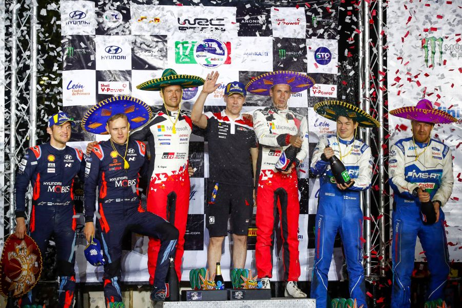 2020 Rally Mexico podium