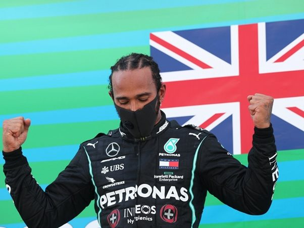 Lewis Hamilton Celebrates his 91st F1 Victory