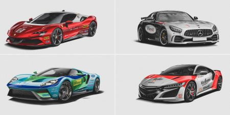 Classic F1 Liveries Reimagined On Modern Road Cars